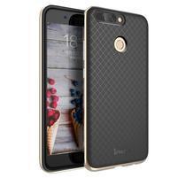 Odolný obal 2v1 na mobil Honor 8 Pro - zlatý lem