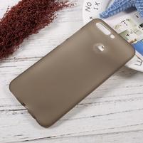 Matný gelový obal na mobil Honor 8 Pro - šedý