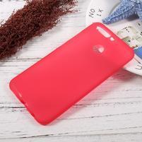 Matný gelový obal na mobil Honor 8 Pro - červený