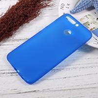 Matný gelový obal na mobil Honor 8 Pro - modrý