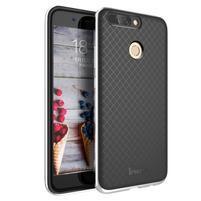 Odolný obal 2v1 na mobil Honor 8 Pro - stříbrný lem