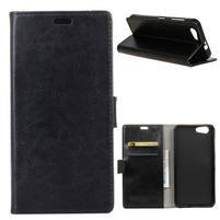 Stay PU kožené puzdro na mobil HTC Desire 12 - čierne