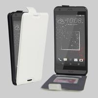 Flipové PU kožené pouzdro na HTC Desire 630 a Desire 530 - bílé