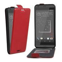 Flipové PU kožené pouzdro na HTC Desire 630 a Desire 530 - červené
