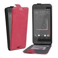 Flipové PU kožené pouzdro na HTC Desire 630 a Desire 530 - rose