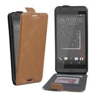 Flipové PU kožené pouzdro na HTC Desire 630 a Desire 530 - hnědé
