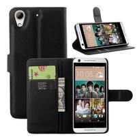 Leathy PU kožené pouzdro na mobil HTC Desire 650 - černé