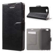 Horse PU kožené pouzdro na mobil HTC One A9s - černé