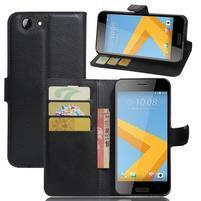 Graines PU kožené pouzdro na HTC One A9s - černé