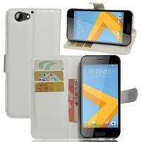 Graines PU kožené pouzdro na HTC One A9s - bílé
