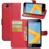 Graines PU kožené pouzdro na HTC One A9s - červené