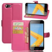 Graines PU kožené pouzdro na HTC One A9s - rose