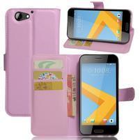 Graines PU kožené pouzdro na HTC One A9s - růžové