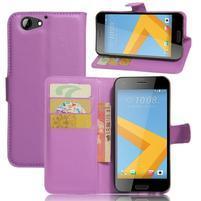 Graines PU kožené pouzdro na HTC One A9s - fialové