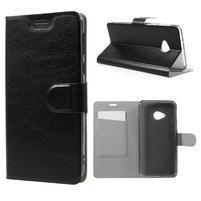 Horse PU kožené pouzdro na mobil HTC U Play - černé