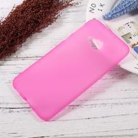Matný gelový obal na HTC U Play - rose