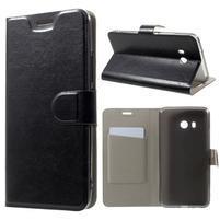 Horse PU kožené zapínací pouzdro na HTC U11 - černé