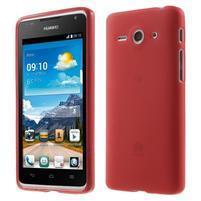 Double matný gelový obal na mobil Huawei Ascend Y530 - červený