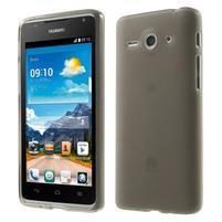 Double matný gelový obal na mobil Huawei Ascend Y530 - šedý