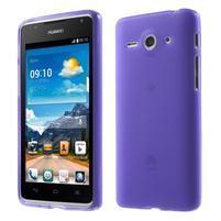Double matný gelový obal na mobil Huawei Ascend Y530 - fialový