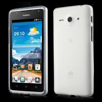 Double matný gelový obal na mobil Huawei Ascend Y530 - bílý