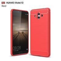 Carbon odolný gelový obal na Huawei Mate 10 - červený