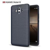 Litchi gelový obal na Huawei Mate 10 - tmavěmodrý