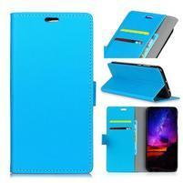 Standy PU kožené knížkové pouzdro na Huawei Mate 10 - modré