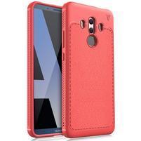 Texturovaný odolný gelový obal Huawei Mate 10 Pro - červený