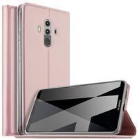 Magnetic PU kožené pouzdro na Huawei Mate 10 Pro -  růžovozlaté