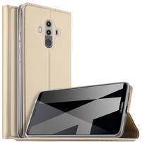 Magnetic PU kožené pouzdro na Huawei Mate 10 Pro -  zlaté