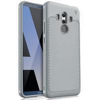 Texturovaný odolný gelový obal Huawei Mate 10 Pro -  šedý