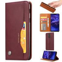 Simple PU kožené peněženkové pouzdro na Huawei Mate 20 Lite - červené