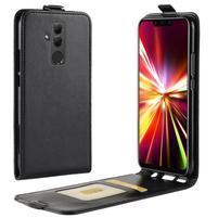 Vertical flipové PU kožené pouzdro pro Huawei Mate 20 Lite - černé
