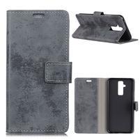 Style PU kožené peněženkové pouzdro na mobil Huawei Mate 20 Lite - šedé