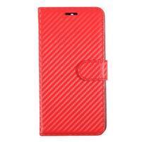 Carbo PU kožené pouzdro na Huawei Mate 9 - červené