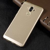 Rubbi plastový obal na Huawei Mate 9 - zlatý
