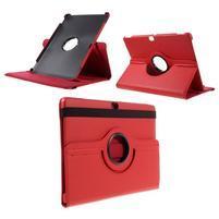 Rotate PU kožené pouzdro s polohováním na Huawei MediaPad M2 10.0 - červené