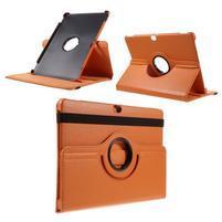 Rotate PU kožené pouzdro s polohováním na Huawei MediaPad M2 10.0 - oranžové