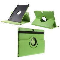 Rotate PU kožené pouzdro s polohováním na Huawei MediaPad M2 10.0 - zelené