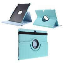 Rotate PU kožené pouzdro s polohováním na Huawei MediaPad M2 10.0 - modré