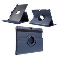 Rotate PU kožené pouzdro s polohováním na Huawei MediaPad M2 10.0 - tmavě modré