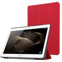 Trifold PU kožené pouzdro na Huawei MediaPad M2 10.0 - červené