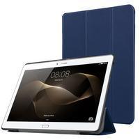 Trifold PU kožené pouzdro na Huawei MediaPad M2 10.0 - tmavě modré