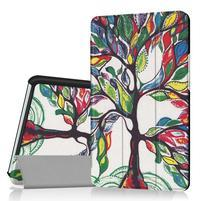 Pattern knížkové zapínací pouzdro na Huawei MediaPad M3 8.4 - malovaný strom