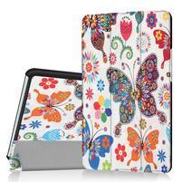 Pattern knížkové zapínací pouzdro na Huawei MediaPad M3 8.4 - motýlkové