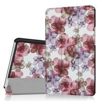 Pattern knížkové zapínací pouzdro na Huawei MediaPad M3 8.4 - květiny