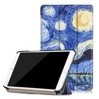 Emotive PU kožené pouzdro na Huawei MediaPad M3 8.4 - noc