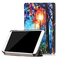 Emotive PU kožené pouzdro na Huawei MediaPad M3 8.4 - malovaný les