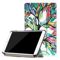 Emotive PU kožené pouzdro na Huawei MediaPad M3 8.4 - malovaný strom